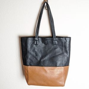 Kelly & Katie black brown tote bag laptop large